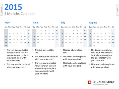 powerpoint calendars 2015 template