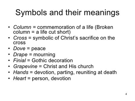 definition of draped cemetery symbols