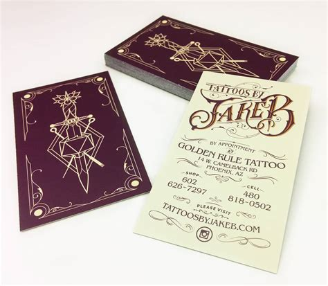 tattoo visiting card design has design artist branding website design for