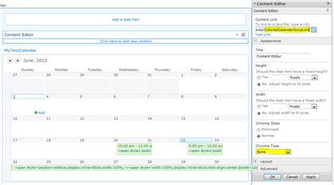 color coding sharepoint calendar events sharepoint 2010 color coding calendar in sharepoint 2010