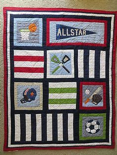 Pottery Barn Sports Quilt by Baseball Soccer Basketball Football Soccer Sports