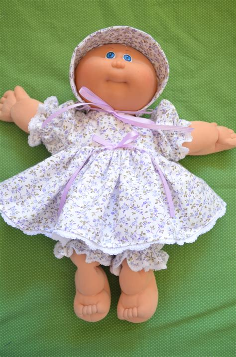 14 vintage preemie cabbage patch doll clothes only lilac