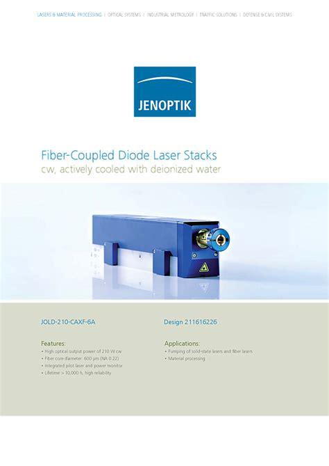 laser diode jenoptik infrared laser 807nm 210w fiber coupled stack jenoptik laser gmbh compare diode laser