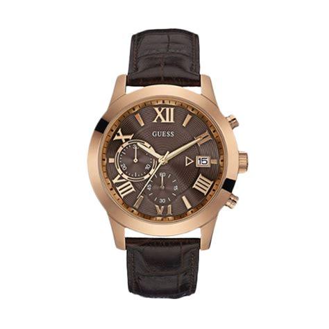 Jam Tangan Wanita Gues Angka Romawi A3 jual guess w0669g1 gold brown jam tangan pria