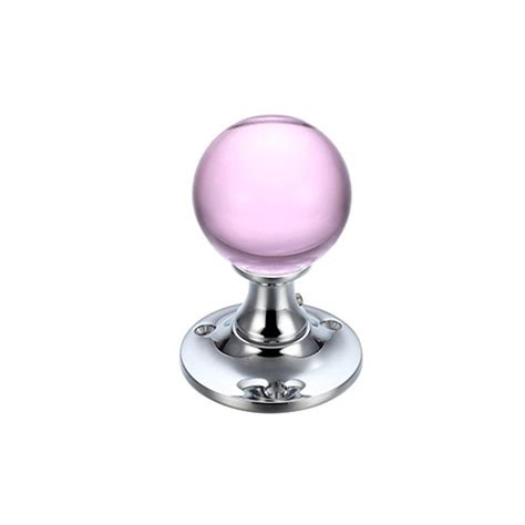 Pink Glass Door Knobs Fulton Bray Fb400cpp Pink Glass Knobs On Chrome Glass Door Knobs