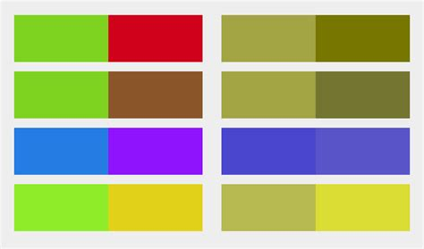 colour combination with green improving the color accessibility for color blind users