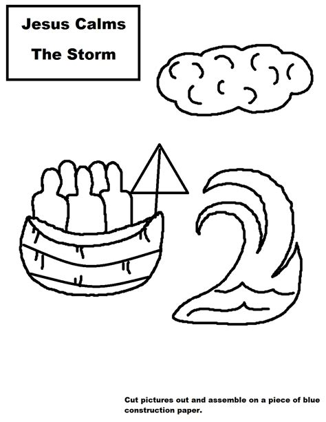 free coloring pages of jesus calms storm