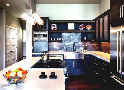 modern industrial home decor fair 80 industrial kitchen decor design ideas of