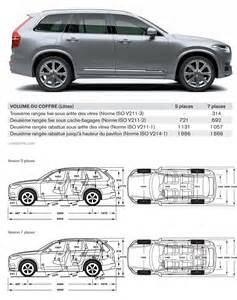 Volvo Xc90 Length Volvo Xc90 2 2015 Fiche Technique Dimensions