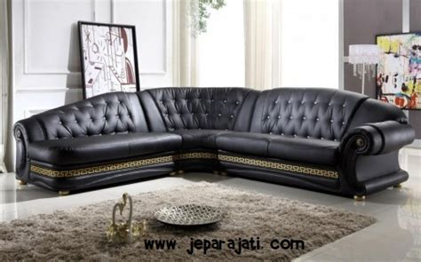 Sofa Bentuk L Malaysia kursi sofa tamu mewah bentuk l jepara jati