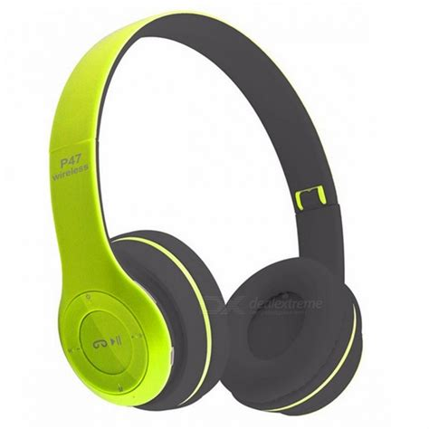 Headset Dj Bluetooth P47 kelima p47 stereo creative bluetooth headset with tf radio green free shipping dealextreme