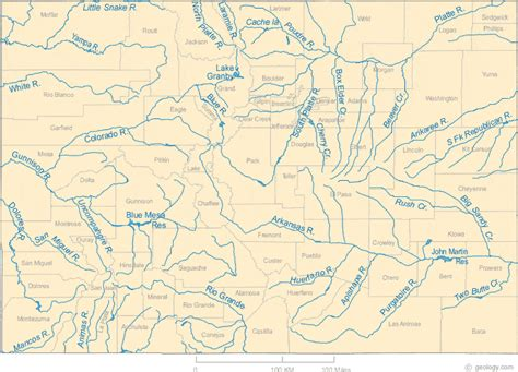 blue river colorado map images map of colorado lakes streams and rivers
