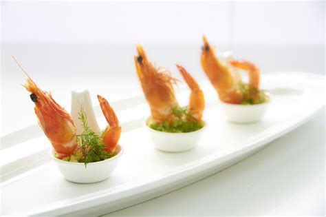 prawn in spoon canape canapes