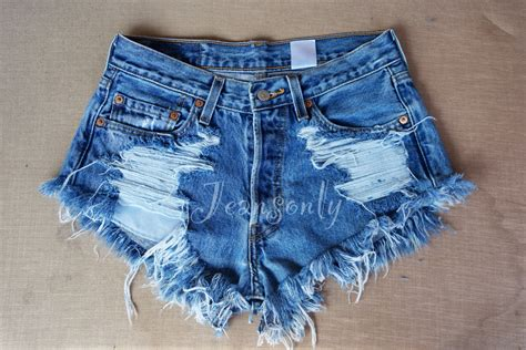 high waisted frayed jean shorts hardon clothes