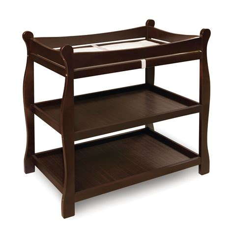 Cost Of Changing Table Special Promo Offers Big Deals Badger Basket Espresso Sleigh Style Baby Changing Table