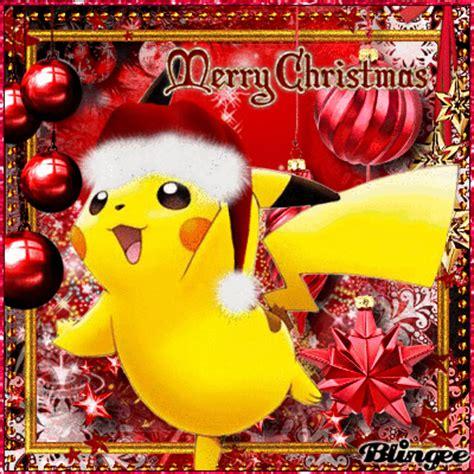 pika pikachu merry christmas picture  blingeecom