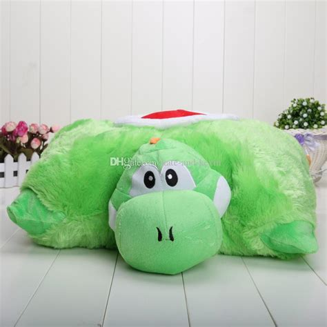 best mario bros yoshi transforming pet pillow nap