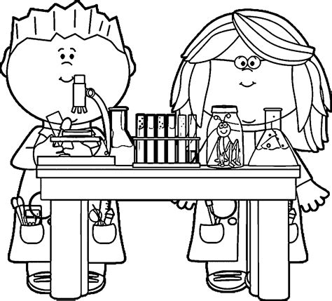 Scientist Coloring Pages science lab coloring pages coloring home