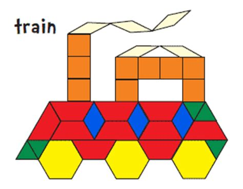 pattern block pictures kindergarten pattern block printables you can cut and make your own