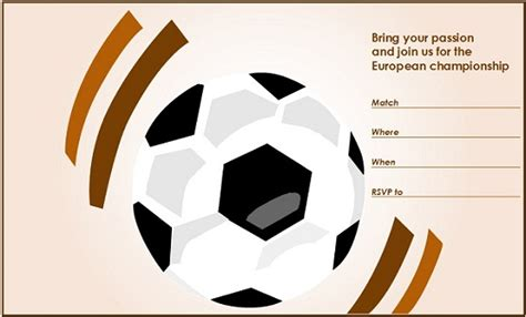 free soccer templates free soccer invitation template for powerpoint free