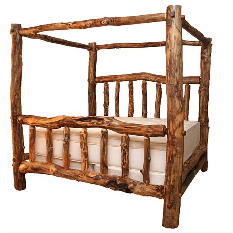 queen canopy bed log beds queen size aspen creek canopy bed black forest decor