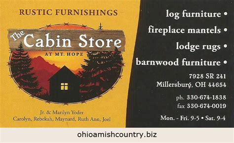 the cabin store at mt ohio amish country biz