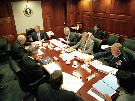 situation room at bush library a chance to be the decider in chief ncpr news