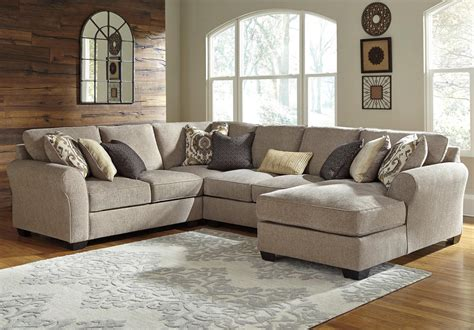 benchcraft pantomine piece sectional chaise city furniture sofa sectional