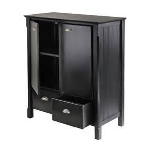 Black Storage Cabinet Winsome Wood Timber Storage Cabinet Matte Black 20136