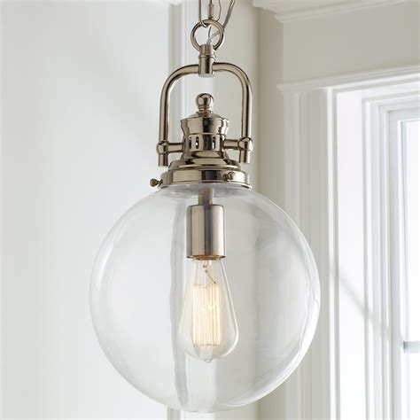 clear glass globe industrial pendant shades  light