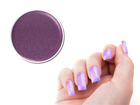 Glitter 5g ndc nail design center uv glitter gel quot pastell quot 5g lila