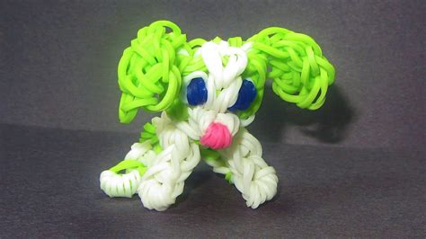 rainbow puppy rainbow loom charm puppy how to make loom bands tutorial