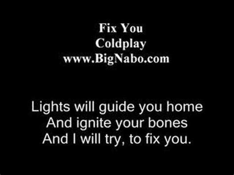 coldplay when you try your best fix you coldplay feel with lyrics
