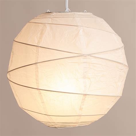Maru Round White Paper Lantern World Market Paper Lights