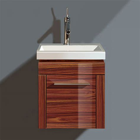 duravit 2nd floor rosewood 380mm wall hung vanity with