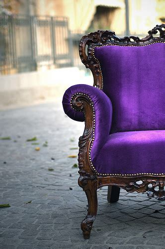 purple velvet couch vintage purple make mine eclectic