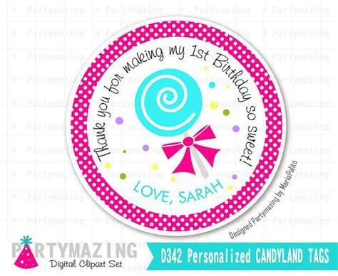 printable lollipop labels candyland tags printable thank you labels lollipop