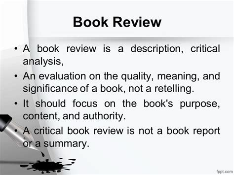 define book report review writing opini 243 n writing ppt