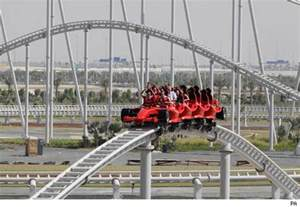 World Dubai Roller Coaster The World S Fastest Roller Coaster Opens In Dubai Aol Uk