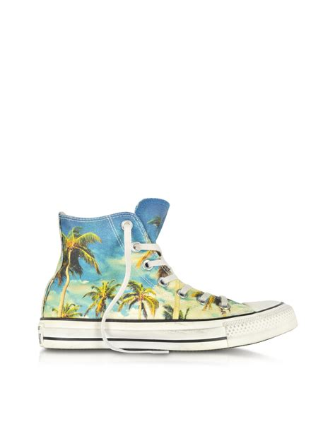 Converse Limited Edition Chair Print Shoe lyst converse chuck all hi ox graphic