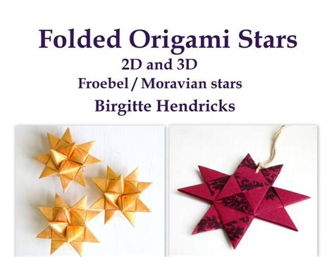 How To Make A Moravian Out Of Paper - pdf epattern 3d folded origami moravian froebel