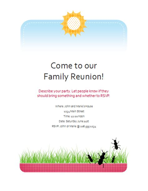 family reunion flyer template flyers templates family reunion flyer event flyers