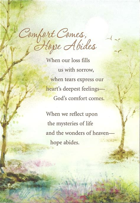 comfort text meaningful sympathy card christian resource ministry