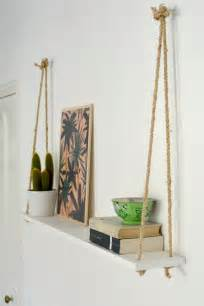 etagere suspendue diy easy rope shelf burkatron