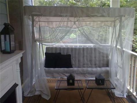 Patio Swing Netting Mosquito Netting Swing Outdoors Deck Patio Space