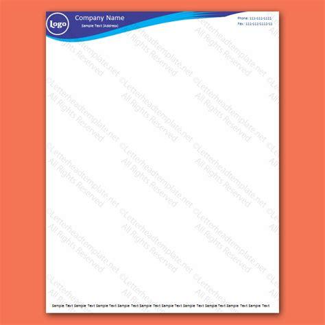 header design simple double blue letterhead template