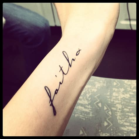 wrist script tattoo faith tattoos on wrist faith best design