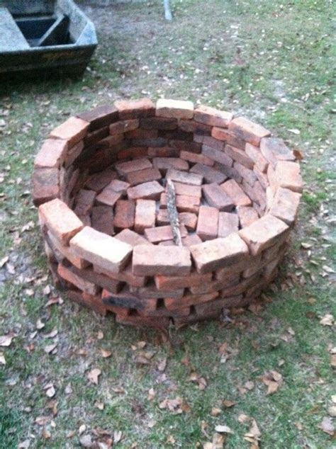 backyard brick fire pit 25 best ideas about brick fire pits on pinterest fire