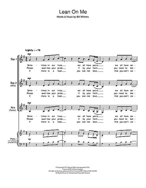 printable lyrics lean on me piano piano chords lean on me piano chords lean on at