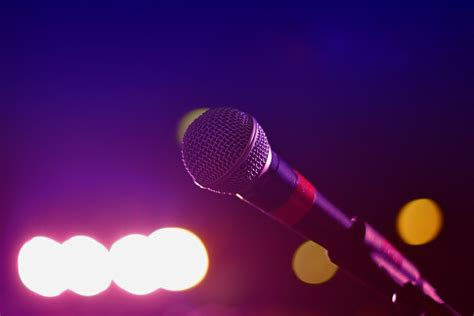 images  light bokeh color microphone mic